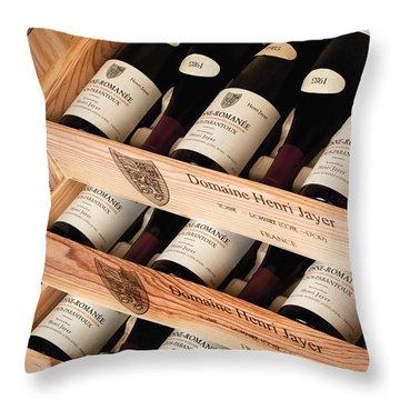 Bottles Of Vosne-romanee Premier Cru Cros Parantoux Throw Pillow by Anonymous