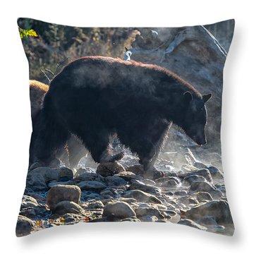 Bouldering Throw Pillow by Scott Warner