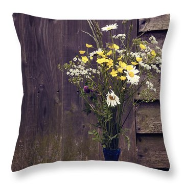Bouquet Throw Pillow by Svetlana Sewell