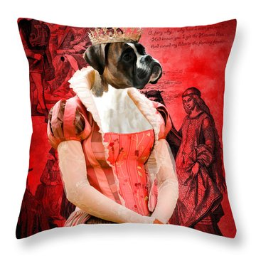 Boxer Art Canvas Print Throw Pillow