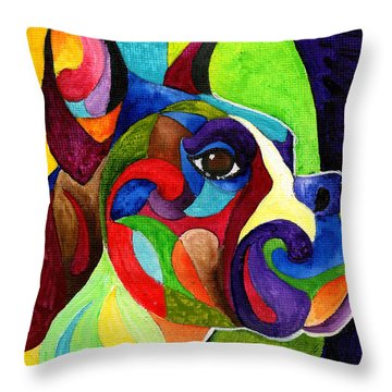Boxer Throw Pillow by Sherry Shipley