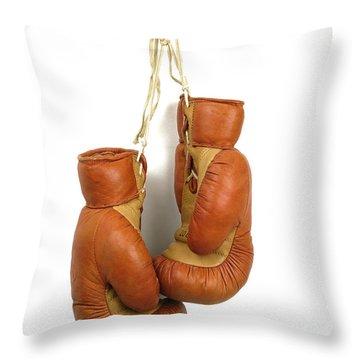 Boxing Gloves Throw Pillow by Bernard Jaubert
