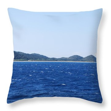Bragini Beach Throw Pillow
