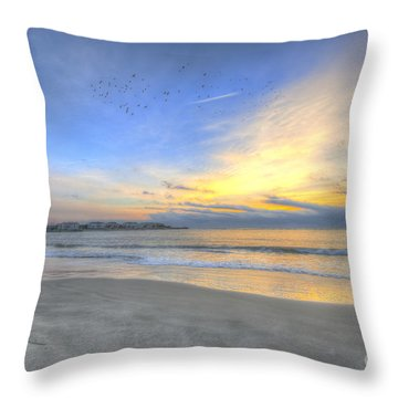 Breach Inlet Sunrise Throw Pillow