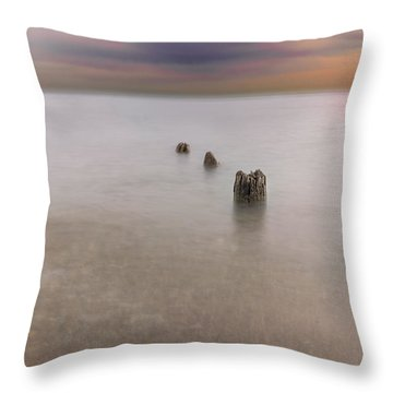 Breakwater Throw Pillow by Peter Lakomy