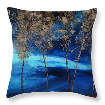 Brewing Storm Throw Pillow by Linda Bailey