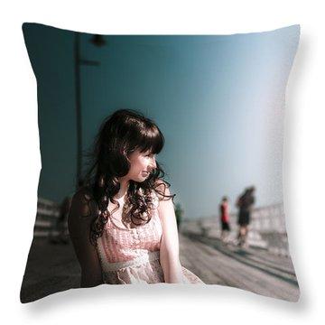 Bridge Woman Throw Pillow