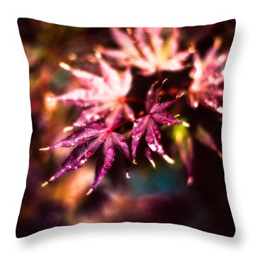 Bright Leaves Throw Pillow by J Riley Johnson