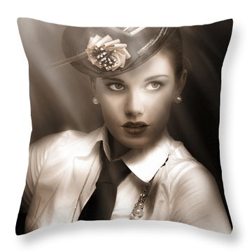 Bright Lights Of Broadway Throw Pillow