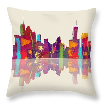 Brisbane Australia Skyline Throw Pillow
