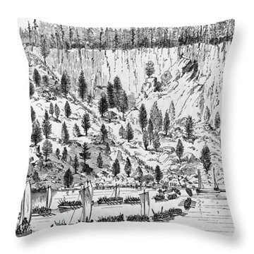 British Landing, 1776 Throw Pillow by Granger