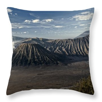 Bromo Mountain Throw Pillow by Miguel Winterpacht