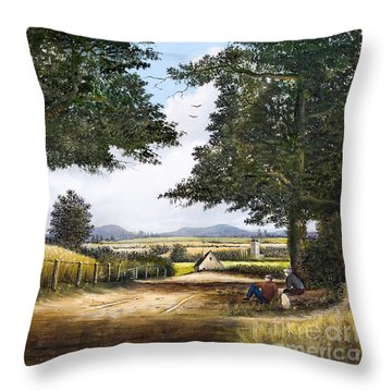 Bromyard Downs Throw Pillow