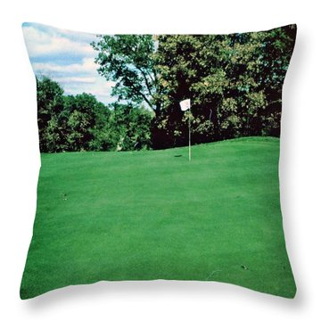 Brookhill Golf Course Throw Pillow by Gary Wonning