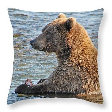 Salmon For Dinner Throw Pillow