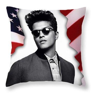 Bruno Mars Throw Pillow