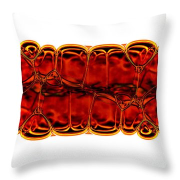 Bubbles Throw Pillow by Michal Boubin