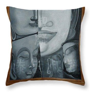Buddish Facial Reactions Throw Pillow