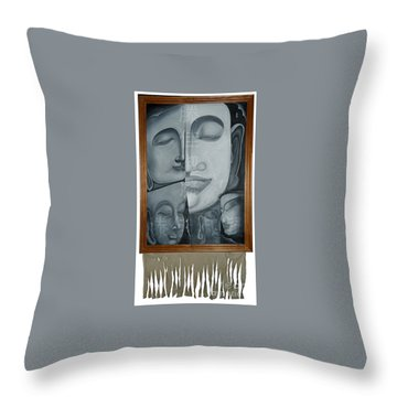 Buddish Facial Reactions Throw Pillow