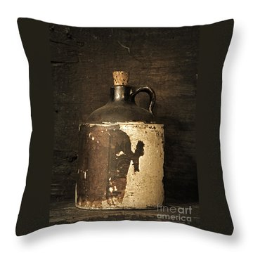 Buddy Bear's Little Brown Jug Throw Pillow