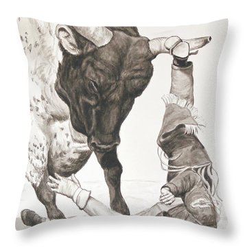 Bull Power Throw Pillow