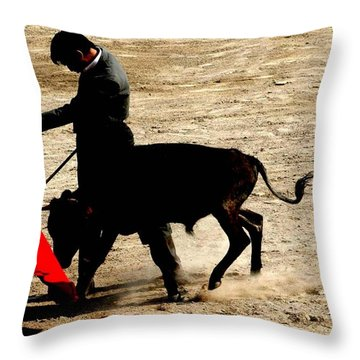 Bullfighter In Training Throw Pillow