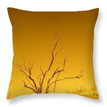 Burnt Bush Throw Pillow