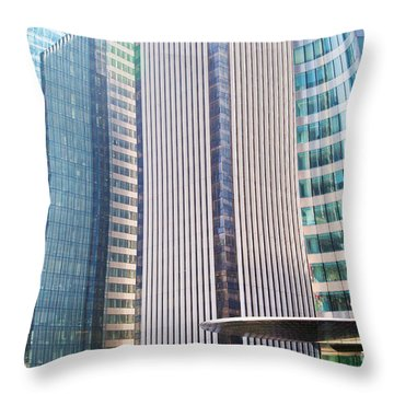 Business Skyscrapers Modern Architecture Throw Pillow by Michal Bednarek