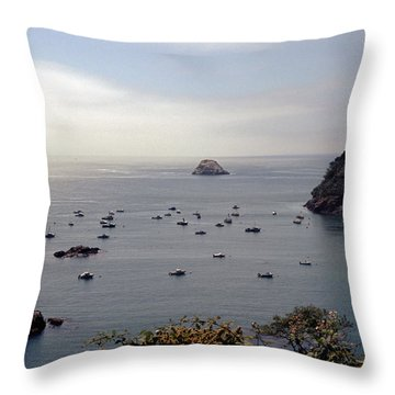 Throw Pillow featuring the photograph Busy Harbor by Sharon Elliott