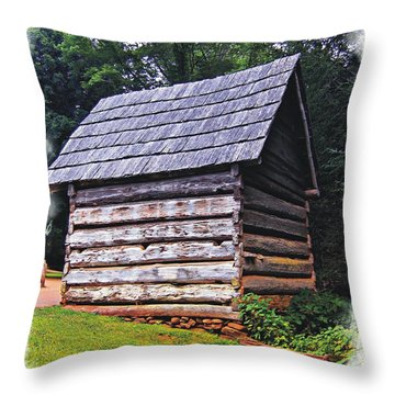 Cades Cove Shed Throw Pillow