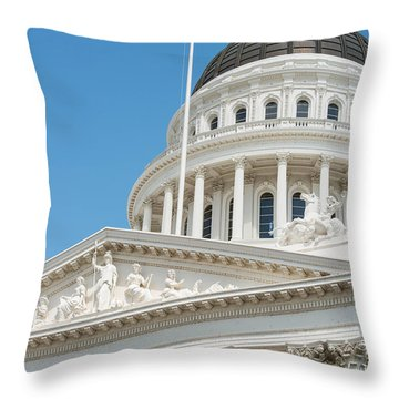 California State Capitol In Sacramento Throw Pillow