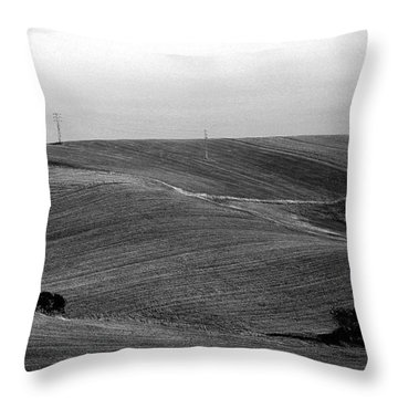 Trees Countryside Hills Throw Pillow