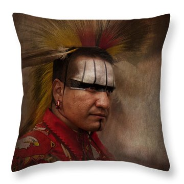 Canadian Aboriginal Man Throw Pillow