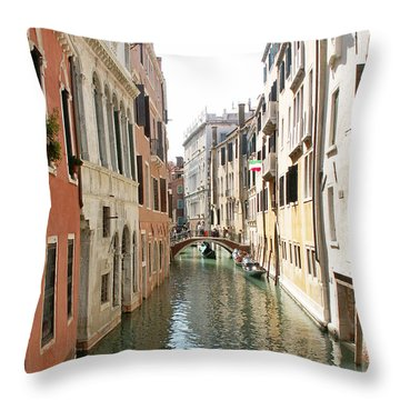 Canal Throw Pillow by Evgeny Pisarev