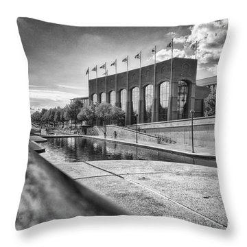 Throw Pillow featuring the photograph Canal Walk by Howard Salmon