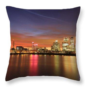 Canary Wharf 2 Throw Pillow by Mariusz Czajkowski