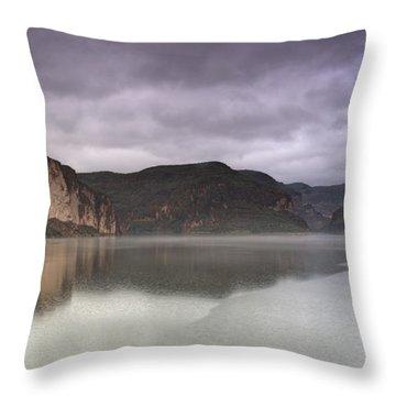 Canyon Lake  Throw Pillow by Saija  Lehtonen
