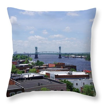 Cape Fear Memorial Bridge Throw Pillow