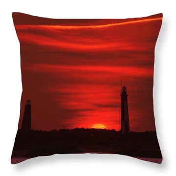 Cape Henry Lighthouses  Throw Pillow