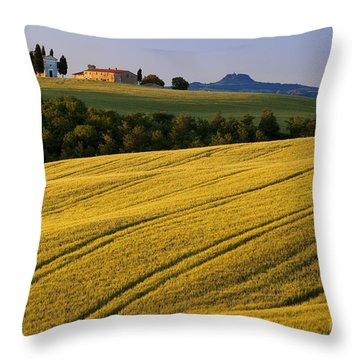 Cappella Di Vitaleta Throw Pillow by Brian Jannsen