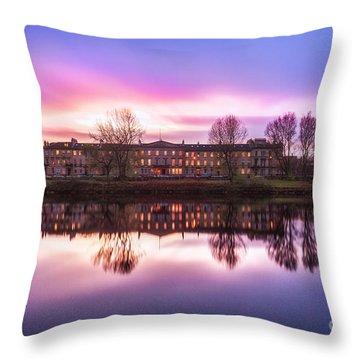 Carlton Place Glasgow Throw Pillow by John Farnan