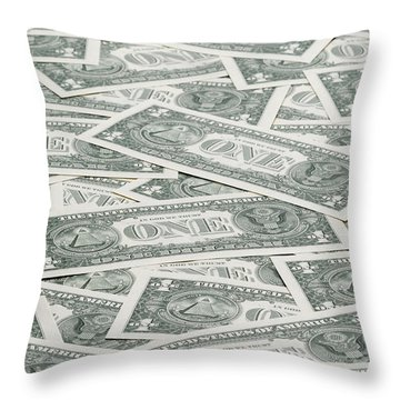 Throw Pillow featuring the photograph Carpet Of One Dollar Bills by Lee Avison