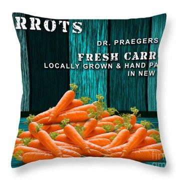 Carrot Farm Throw Pillow