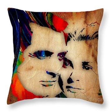 Cary Grant And Grace Kelly Collection Throw Pillow