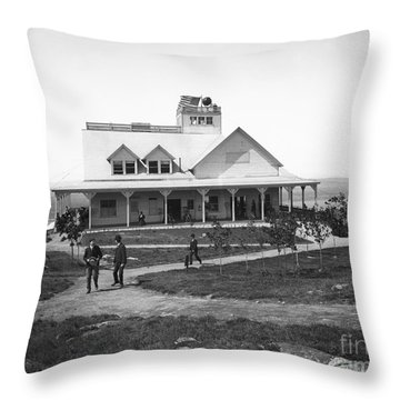 Casino At The Top Of Mt Beacon In Black And White Throw Pillow