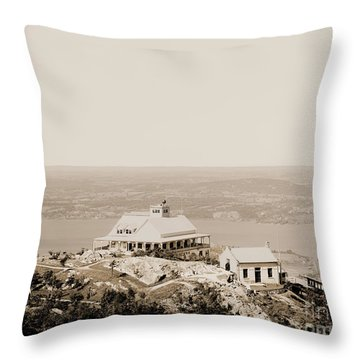 Casino At The Top Of Mt Beacon In Sepia Tone Throw Pillow