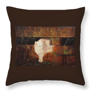 Castaway Cats Throw Pillow by Blue Sky