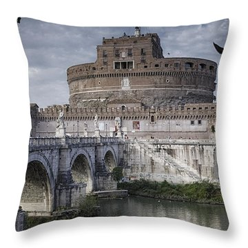 Castel Sant' Angelo Throw Pillow