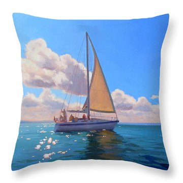 Catching The Wind Throw Pillow by Dianne Panarelli Miller