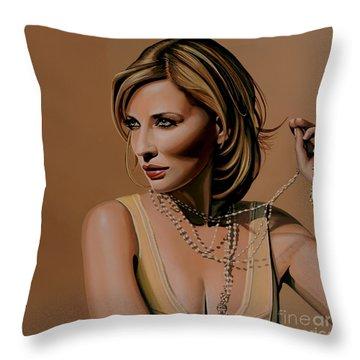 Cate Blanchett Painting  Throw Pillow
